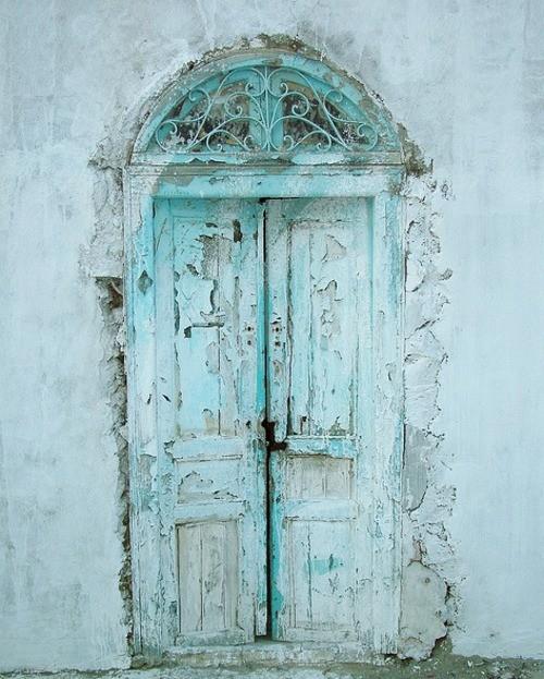 old-door-aqua